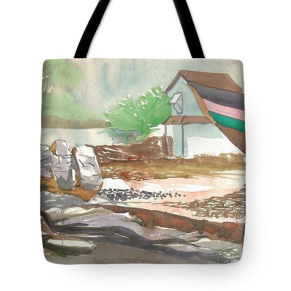 An Abandoned Local Jetty Tote Bag by Makarand Joshi