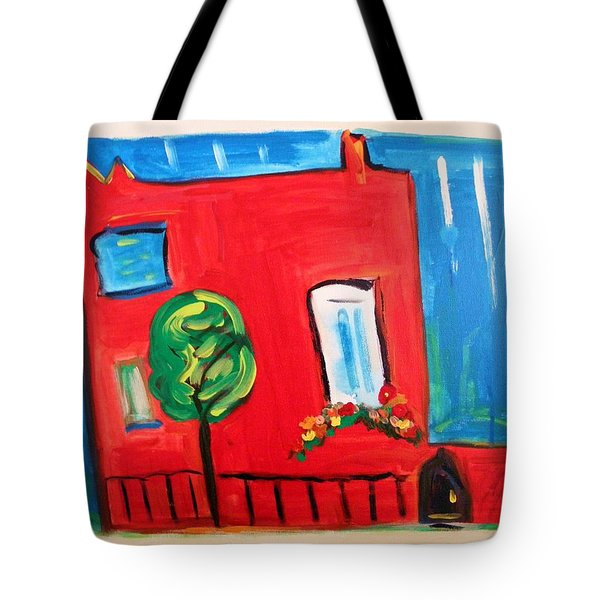 A House With A Smile To Give Tote Bag by Mary Carol Williams