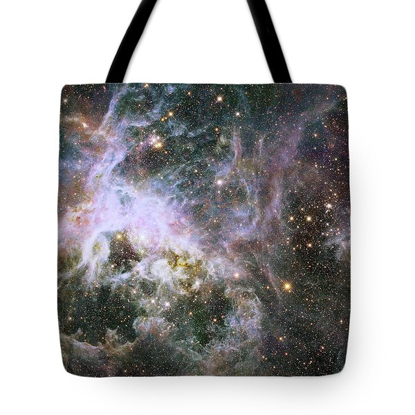 Tote Bag featuring the photograph A Hubble Infrared View Of The Tarantula Nebula by Nasa