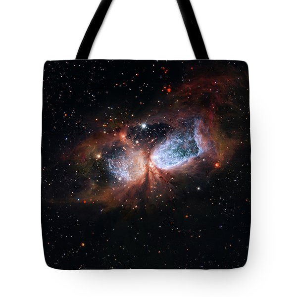 Tote Bag featuring the photograph A Composite Image Of The Swan by Nasa