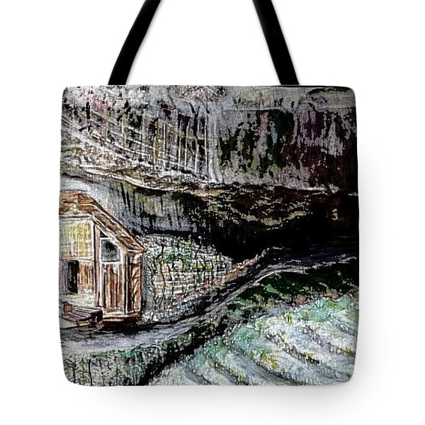 A Hut In The Valley  Tote Bag