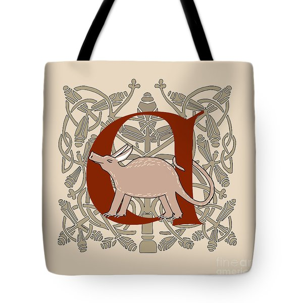 A Is For Aardvark Tote Bag by Donna Huntriss