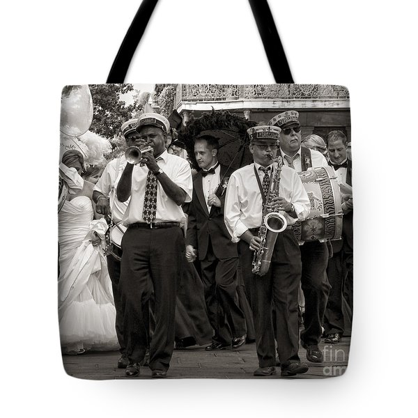 A Jazz Wedding In New Orleans Tote Bag