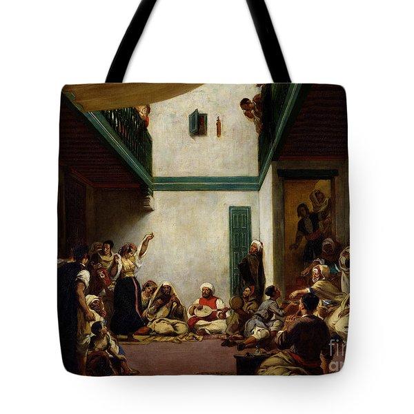 A Jewish Wedding In Morocco Tote Bag by Ferdinand Victor Eugene Delacroix