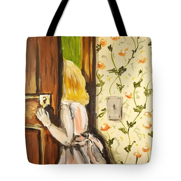 Tote Bag featuring the painting A Journey Begins by Maria Langgle
