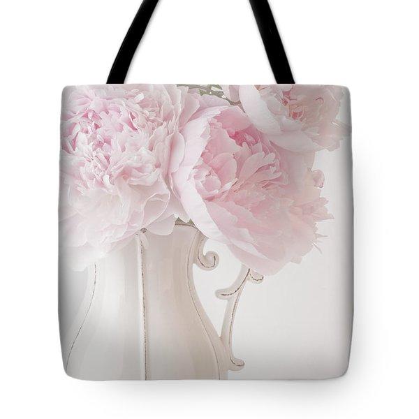 A Jug Of Soft Pink Peonies Tote Bag