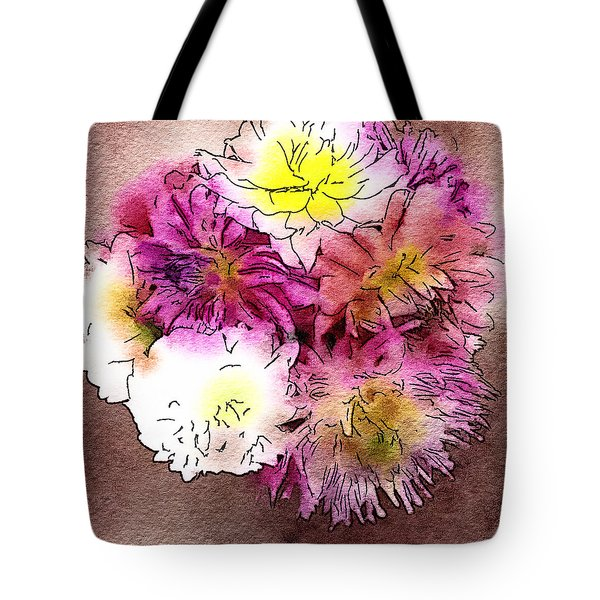 Tote Bag featuring the photograph A Jug Of Summer Dahlias 2 by Ronda Broatch