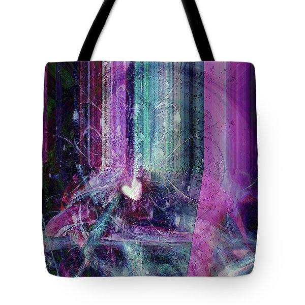 Tote Bag featuring the digital art A Kind Heart by Linda Sannuti
