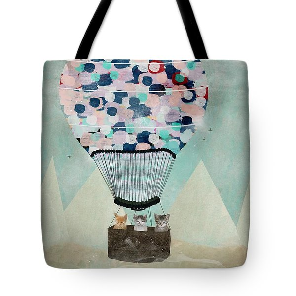 Tote Bag featuring the painting A Kitten Adventure by Bri B