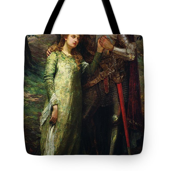 A Knight And His Lady Tote Bag by William G Mackenzie