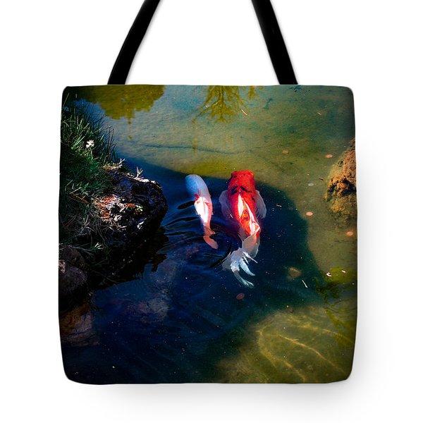 A Koi Romance Tote Bag