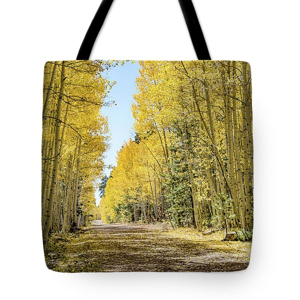 A Lane Of Gold Tote Bag
