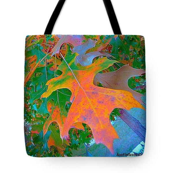 A #leaf From A #beautiful #redoak Tote Bag