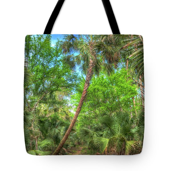 A Leaning Sabal Palmetto Tote Bag