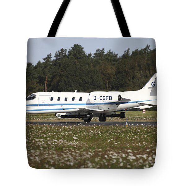A Learjet Of Gfd With Electronic Tote Bag by Timm Ziegenthaler