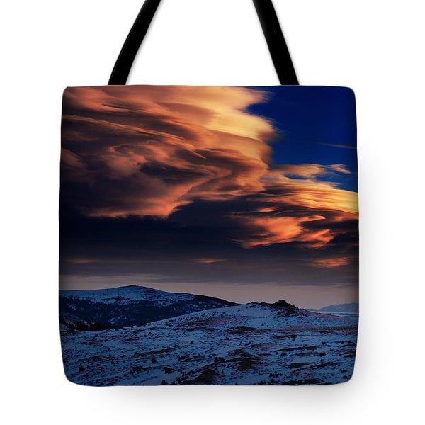 A Lenticular Landscape Tote Bag