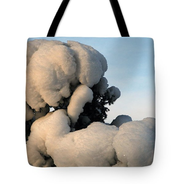 A Lick Of Snow On The Bush Tote Bag