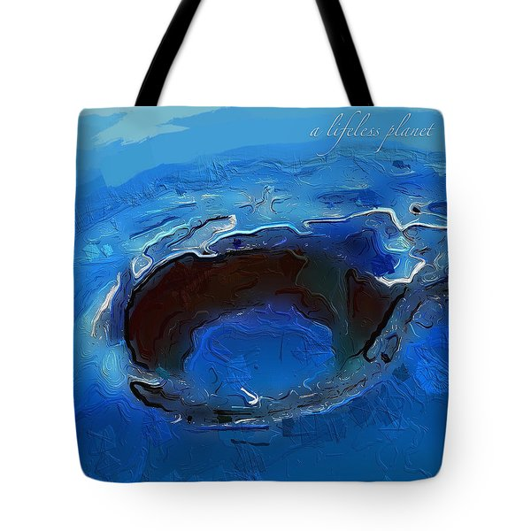 A Lifeless Planet Blue Tote Bag