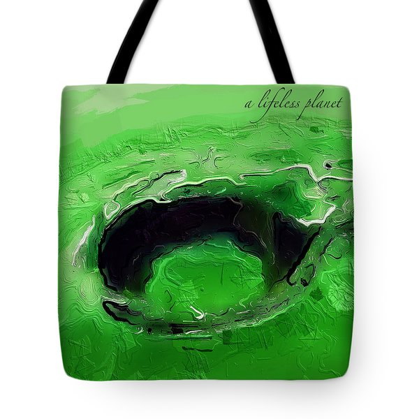 A Lifeless Planet Green Tote Bag