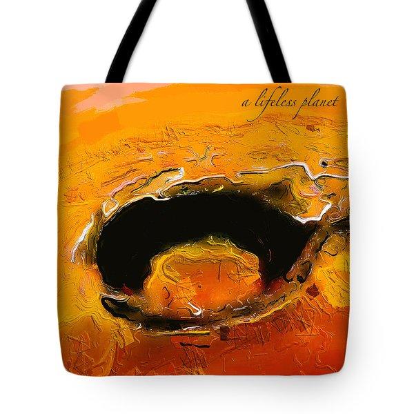 A Lifeless Planet Orange Tote Bag