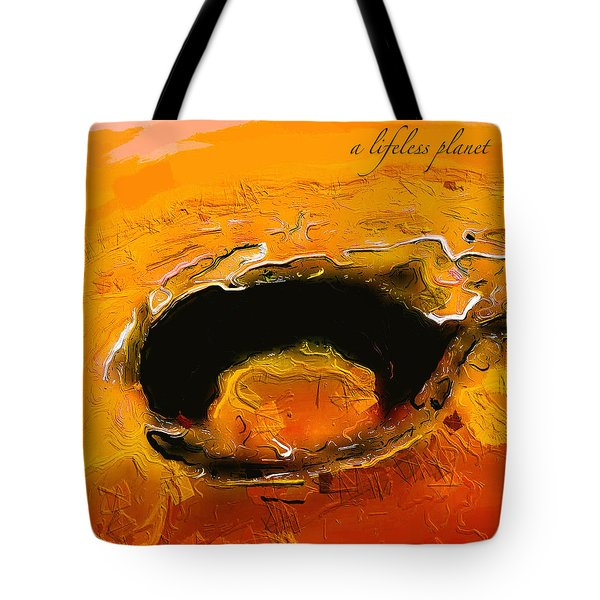 A Lifeless Planet Orange Tote Bag