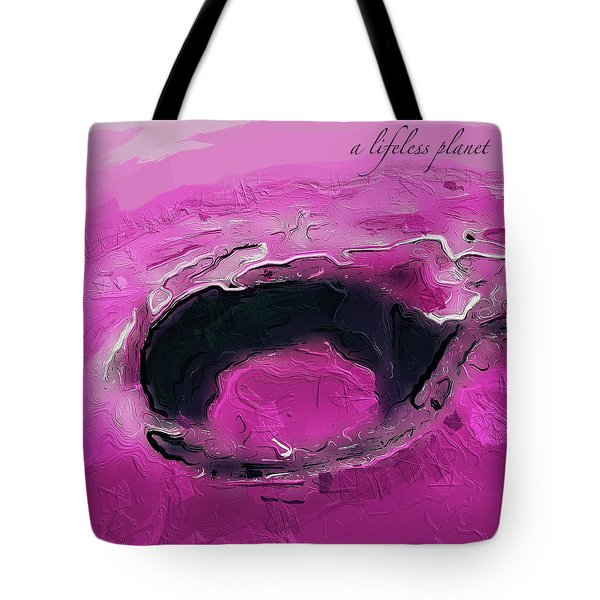 A Lifeless Planet Pink Tote Bag