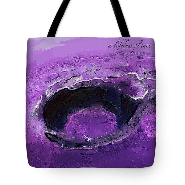A Lifeless Planet Purple Tote Bag