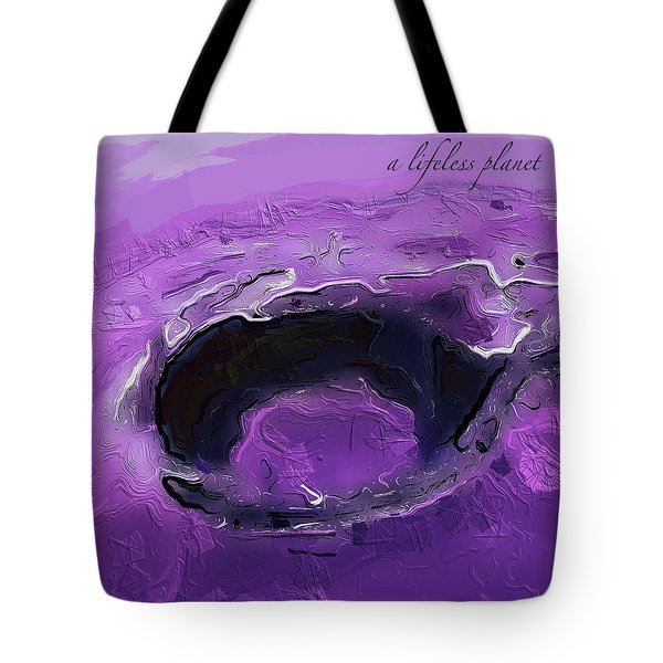 A Lifeless Planet Purple Tote Bag