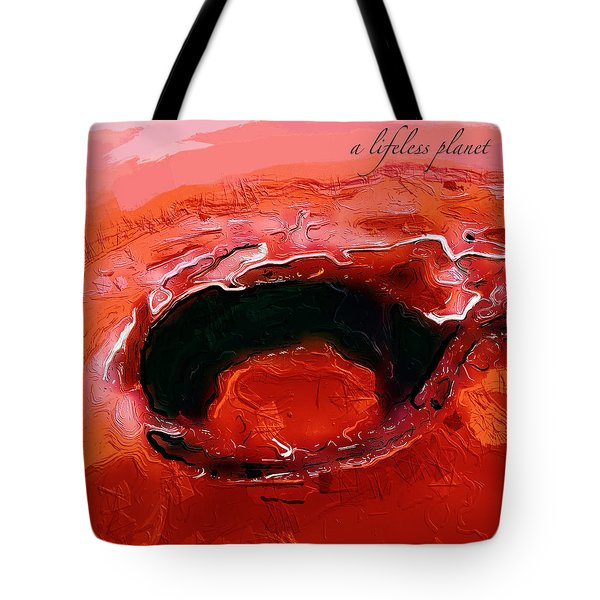 A Lifeless Planet Red Tote Bag