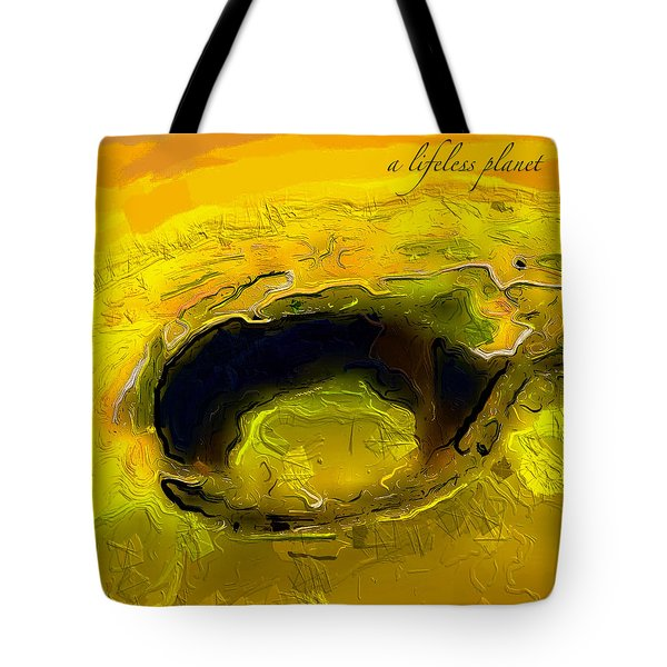 A Lifeless Planet Yellow Tote Bag