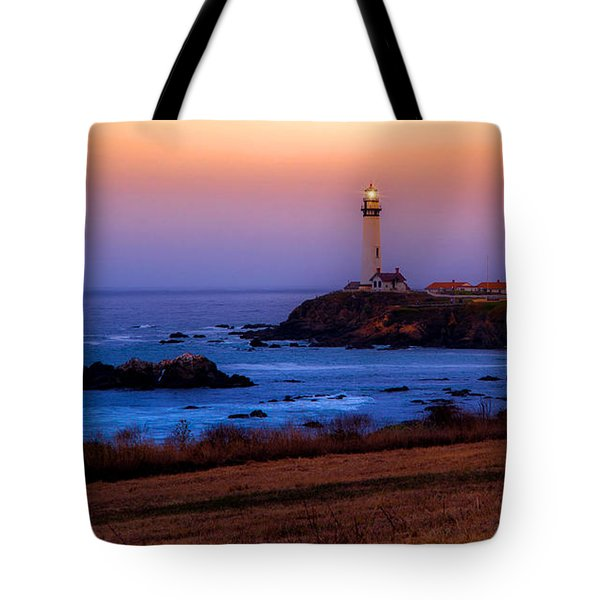 A Light On A Rock  Tote Bag