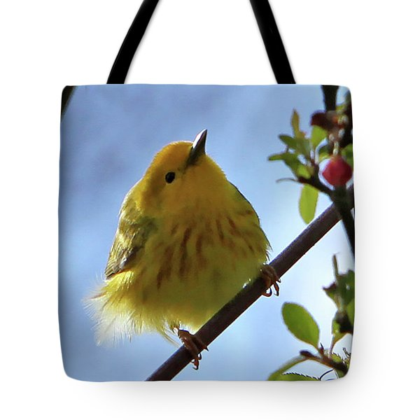 A Liitle Yellow Puff Ball Tote Bag by Marle Nopardi