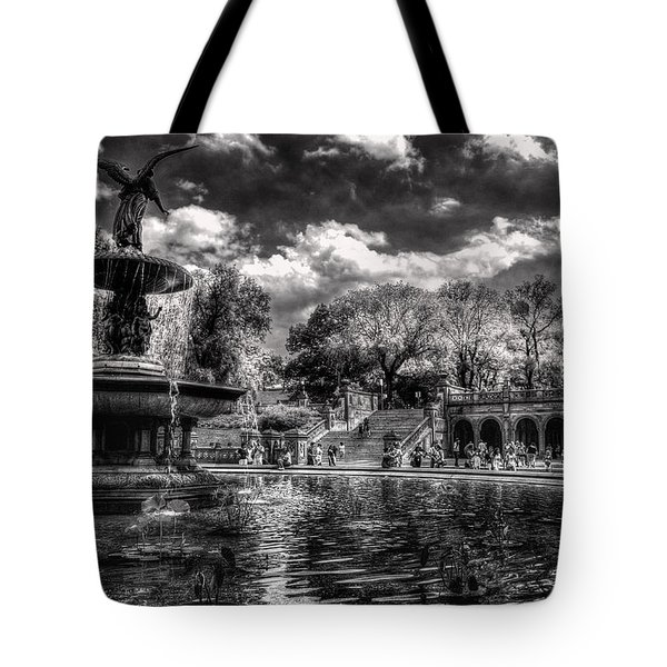 Tote Bag featuring the digital art A Lily In Her Hand by William Fields