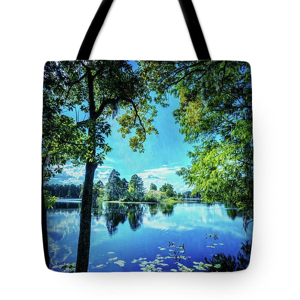 A Line Of Blue Tote Bag