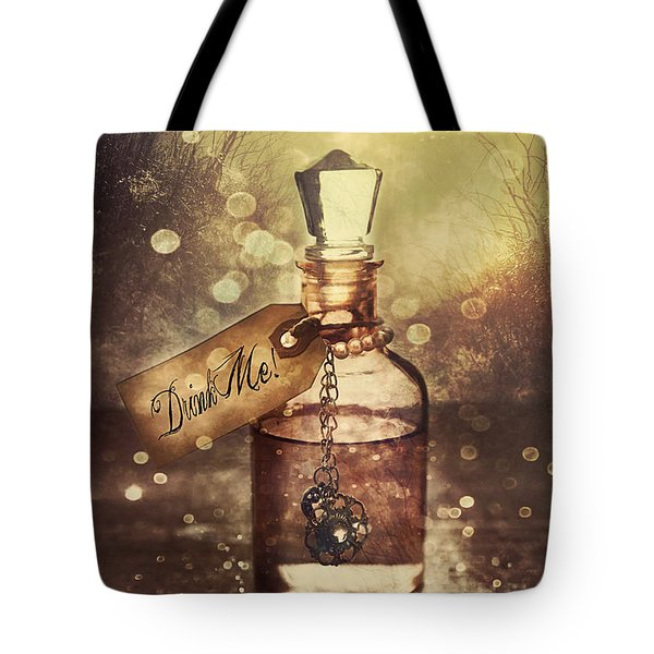 A Little Bottle With A Potion That Says Drink Me Tote Bag