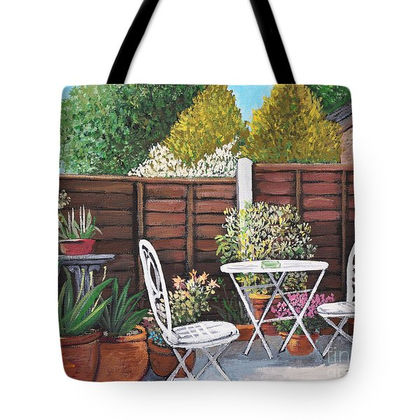 A Little British Garden Tote Bag