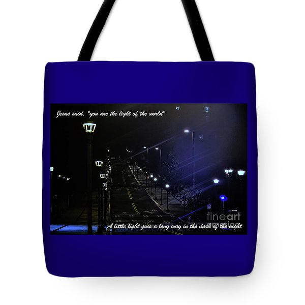 A Little Light Tote Bag