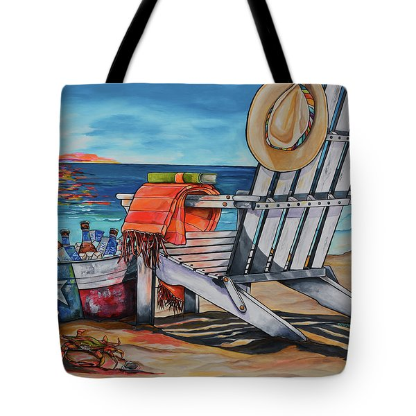 Tote Bag featuring the painting A Little Piece Of Texas Heaven by Patti Schermerhorn