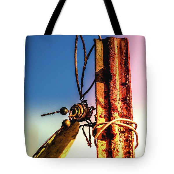 A Little Rusty Tote Bag by Stefanie Silva