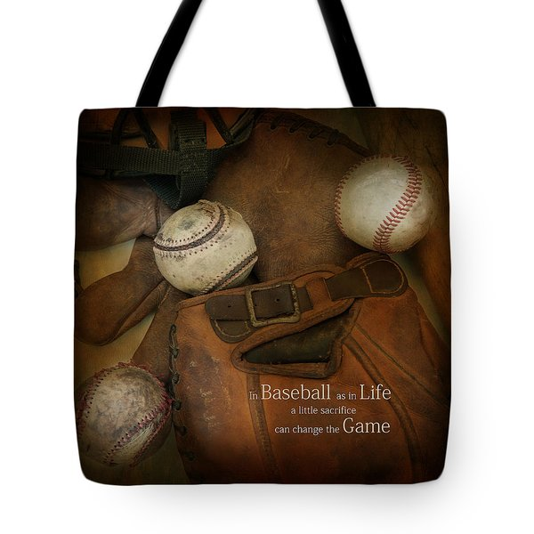 Tote Bag featuring the photograph A Little Sacrifice by Robin-Lee Vieira