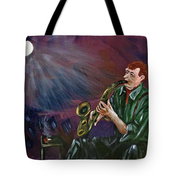 A Little Sax Tote Bag by Donna Blackhall