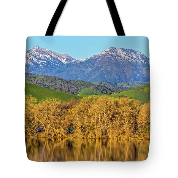 A Little Snow On Mt. Diablo Tote Bag