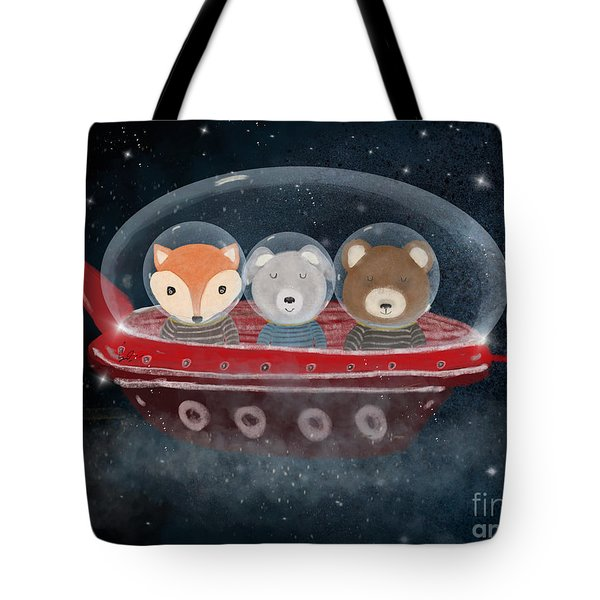 A Little Space Adventure Tote Bag