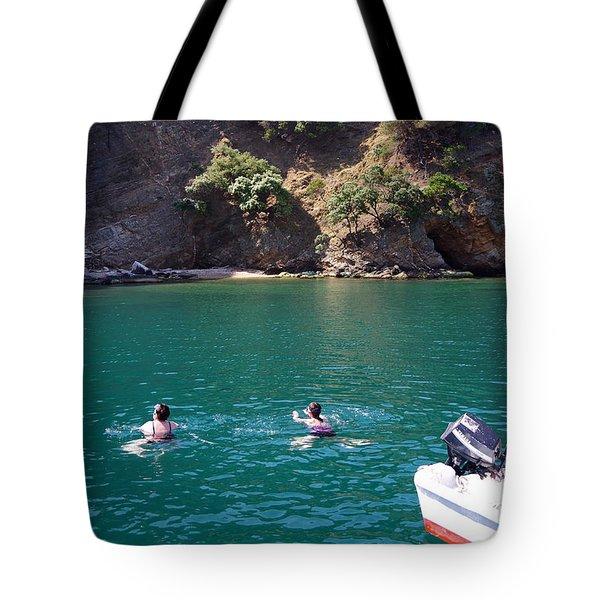 A Little Swim Tote Bag