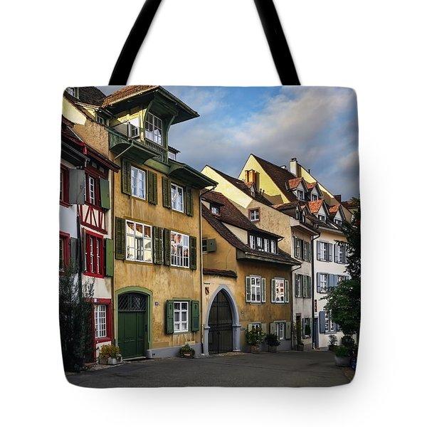 A Little Swiss Street Tote Bag by Carol Japp