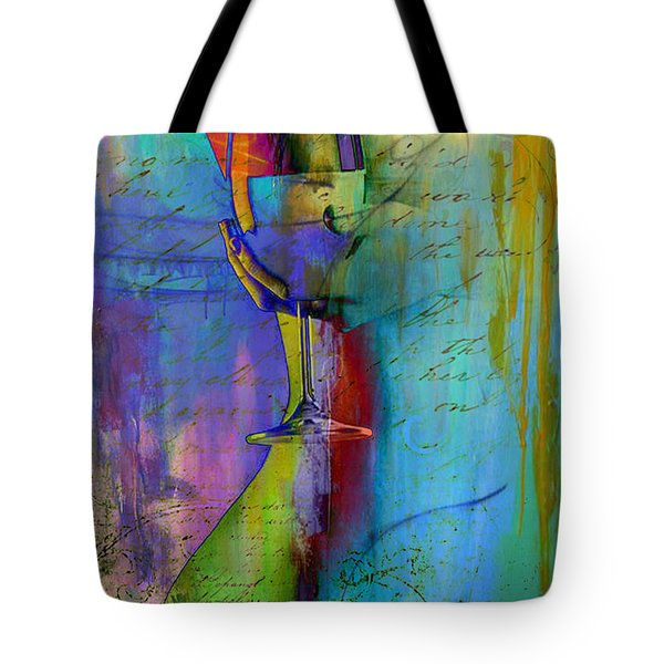 Tote Bag featuring the digital art A Little Wining by Greg Sharpe