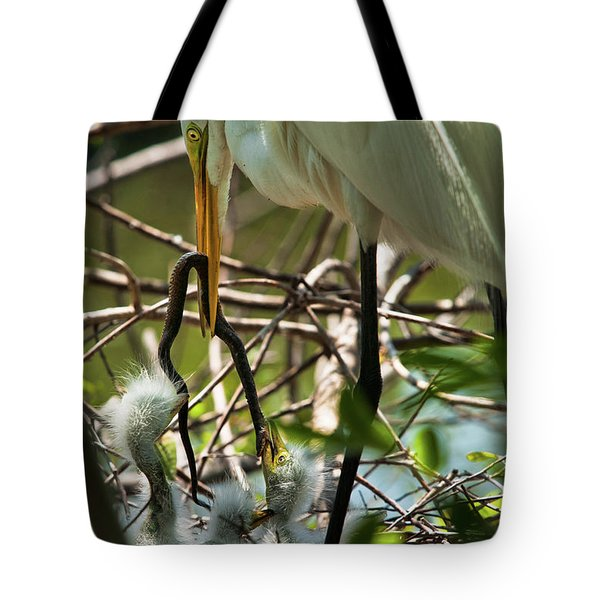 A Lively Lunch Tote Bag by Christopher Holmes