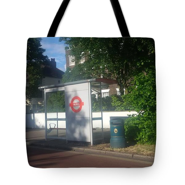 A Lonely Bus Stop Tote Bag