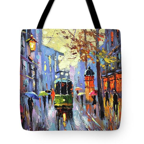 A Lonley Tram  Tote Bag