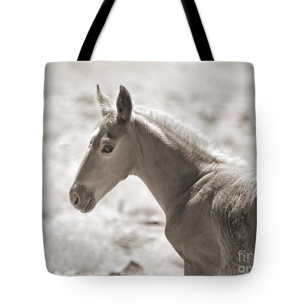Tote Bag featuring the photograph A Look Back by Lula Adams